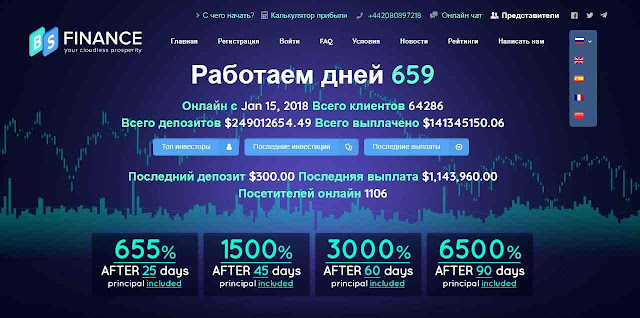 BSfinance инвестиционный проект