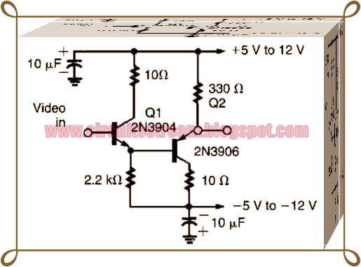 Cheap Offset Simple Video Buffer Circuit Diagram