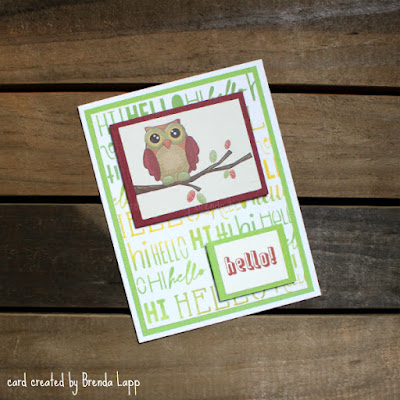 card created from recycled envelope
