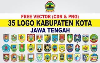 Free Vector Logo 35 Kabupaten Kota Jawa Tengah PNG