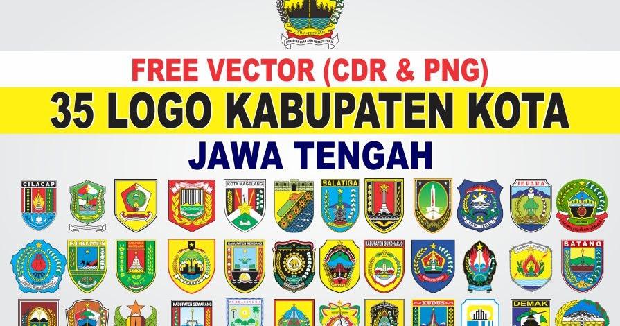 Free Vector Logo 35 Kabupaten Kota Jawa Tengah Cdr Png Tutoriduan Com