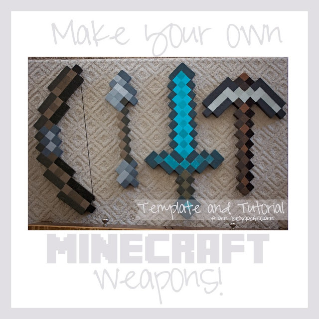 Make your own Minecraft weapons, Lady Goats