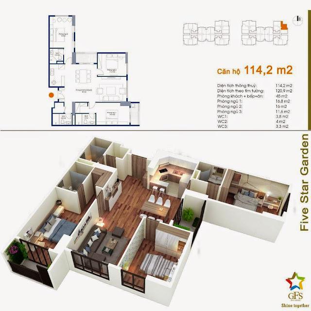 Căn 114,2 m2