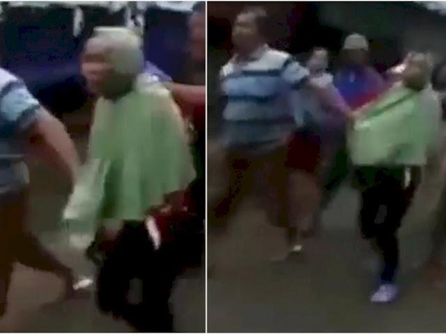 Ya Allah, Nenek Tua Digelandang Hendak Dihakimi karena Ketahuan Mencopet di Pasar