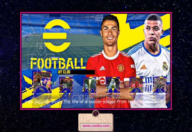 eFOOTBALL PES 2022 PPSSPP New Camera PS5 Update Bursa Transfer & Kits