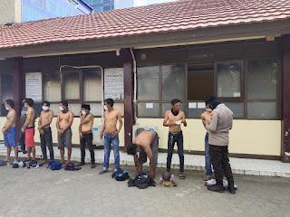 15 Jukir Liar diciduk Polres Pelabuhan Makassar dalam Operasi Berantas Preman