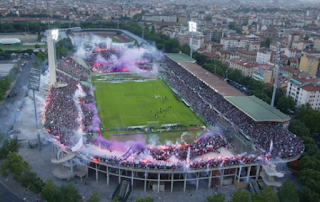 The Stadio Artemio Franchi is an atmospheric venue when packed with Fiorentina supporters