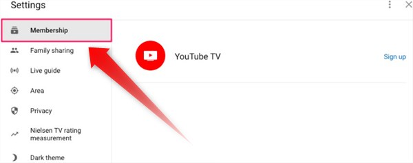 Cancel membership youtube tv