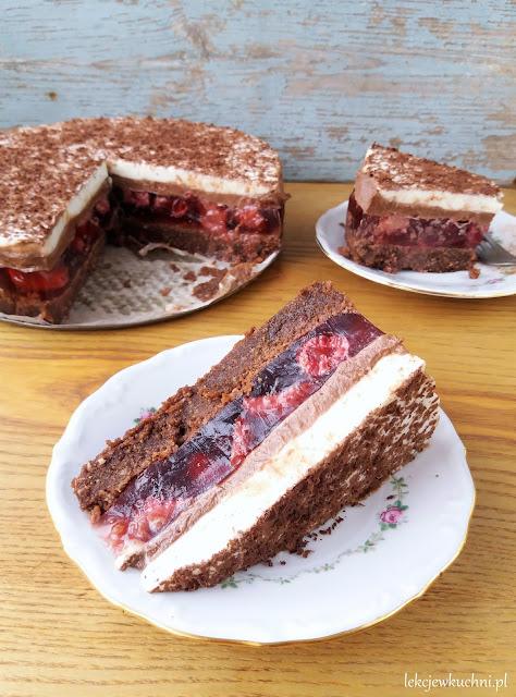 Ciasto Gaja bez pieczenia z nutellą i truskawkami przepis