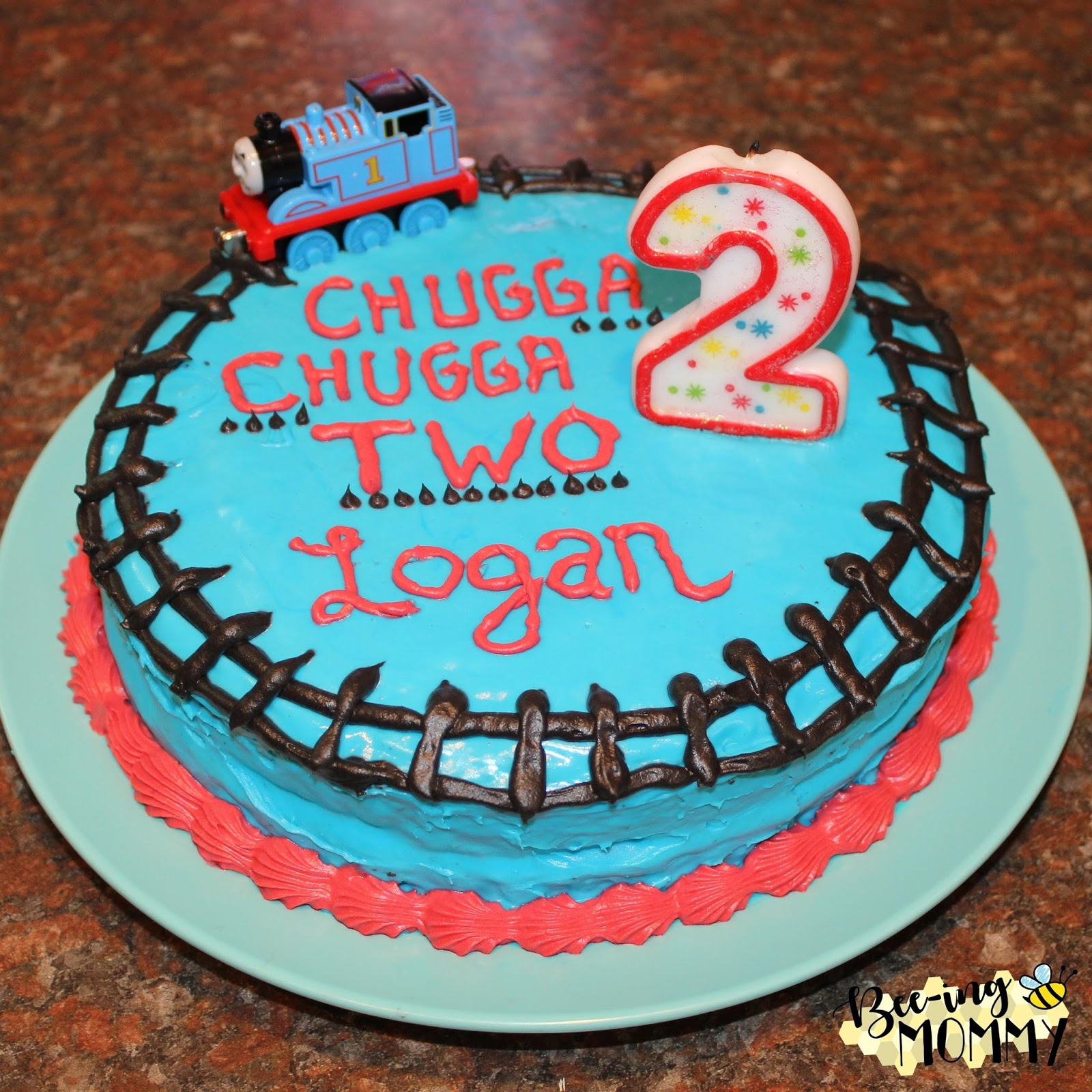 Bee-ing Mommy Blog: Thomas The Train Birthday Party