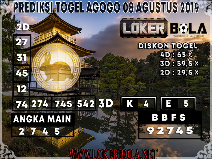 PREDIKSI JITU AGOGO LOKERBOLA 08 AGUSTUS 2019