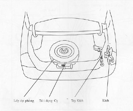 Chi tiết khoang hành lí sau của xe Ford Laser