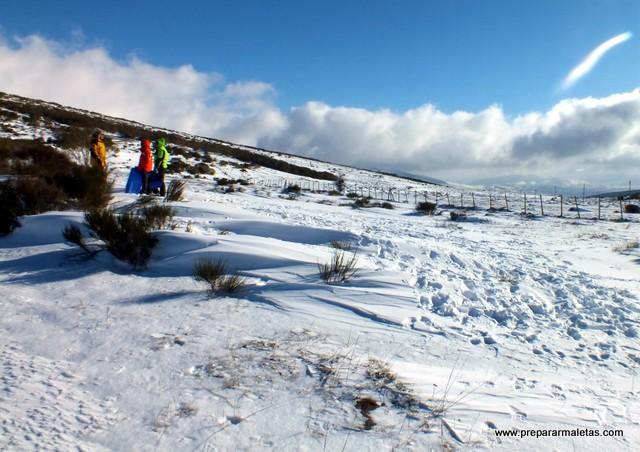día de nieve en la sierra