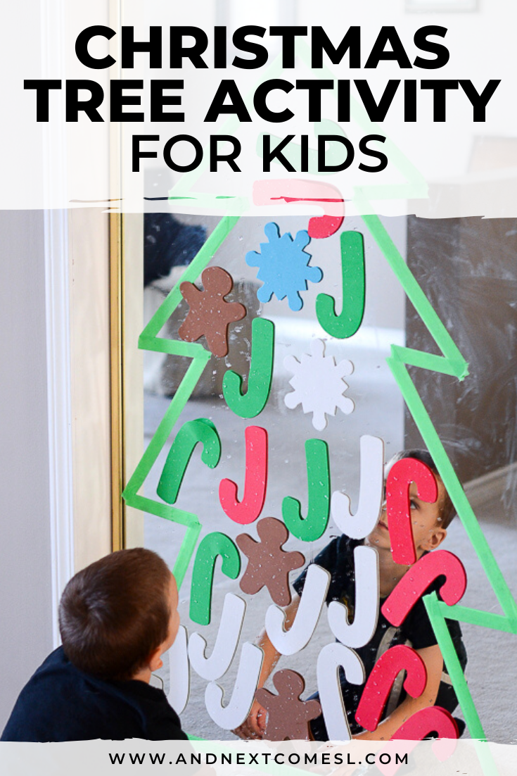 Christmas tree activity for toddlers and preschool kids