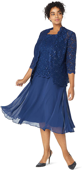 Good Quality Plus Size Mother of The Groom/Bride Dresses With Jackets