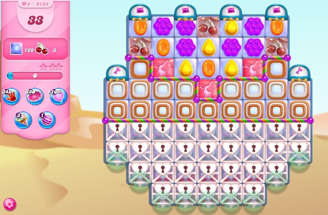 Candy Crush Saga level 9124