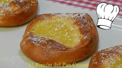 Receta fácil de bollos muy tiernos rellenos de crema de limón (Bollos venecianos)