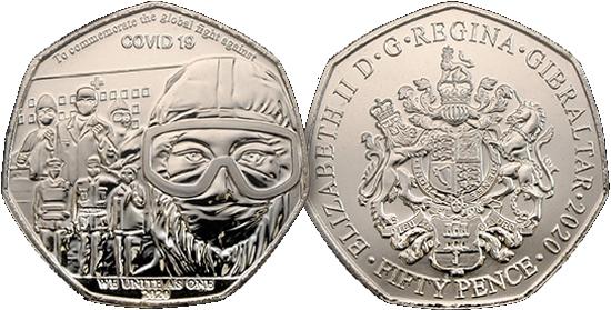 Gibraltar 50 pence 2020 - COVID-19