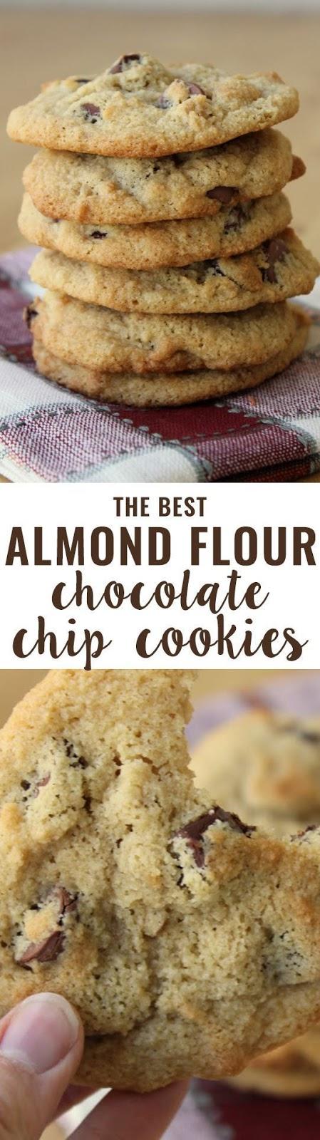 Almond Flour Chocolate Chip Cookies {Grain-Free}