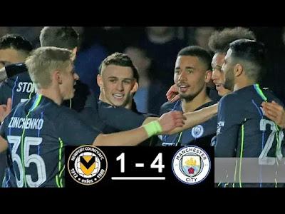 Newport County vs Manchester City 1-4 Football Highlights 2019