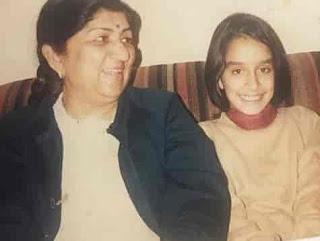 Shraddha Kapoor With Lata Mangeshkar