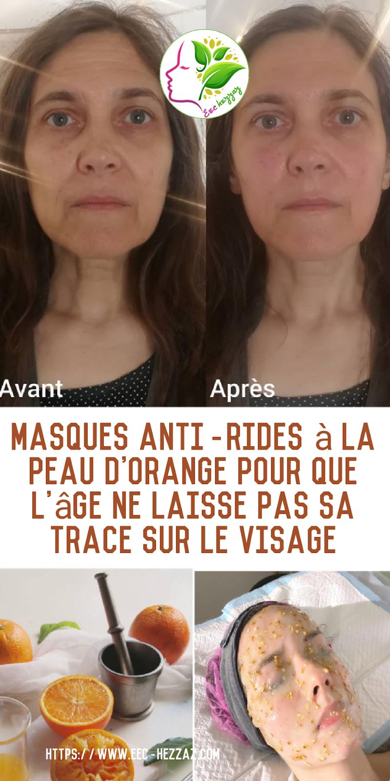 Masques anti-rides à la peau d'orange pour que l'âge ne laisse pas sa trace sur le visage