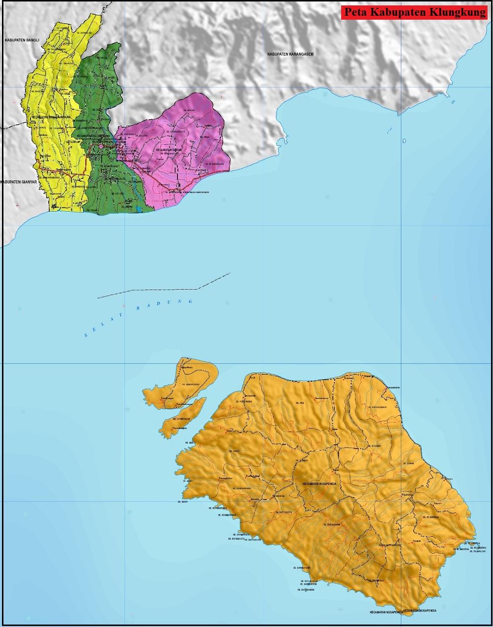Peta Kabupaten Klungkung