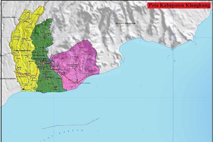 Peta Kabupaten Klungkung Gambar HD | Provinsi Bali