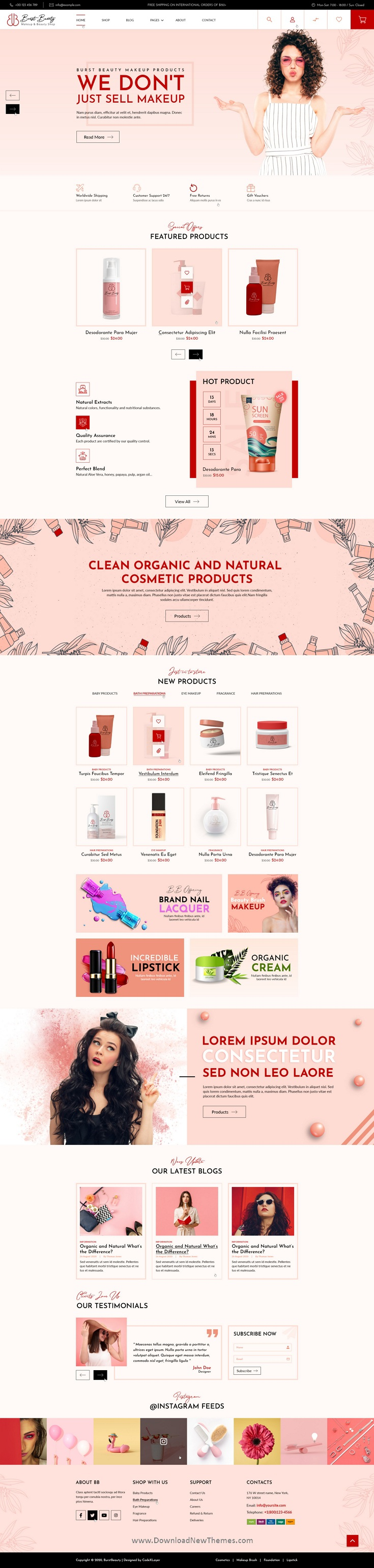 Cosmetics Shop And Spa Saloon Template