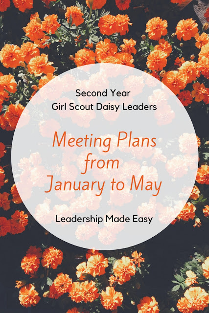 Second Year Girl Scout Daisy Meeting Plans from January to May