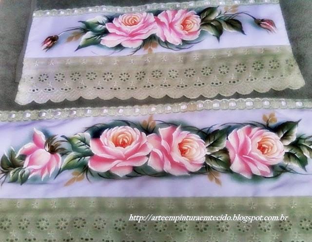 pintura em tecido toalha de banho pintada