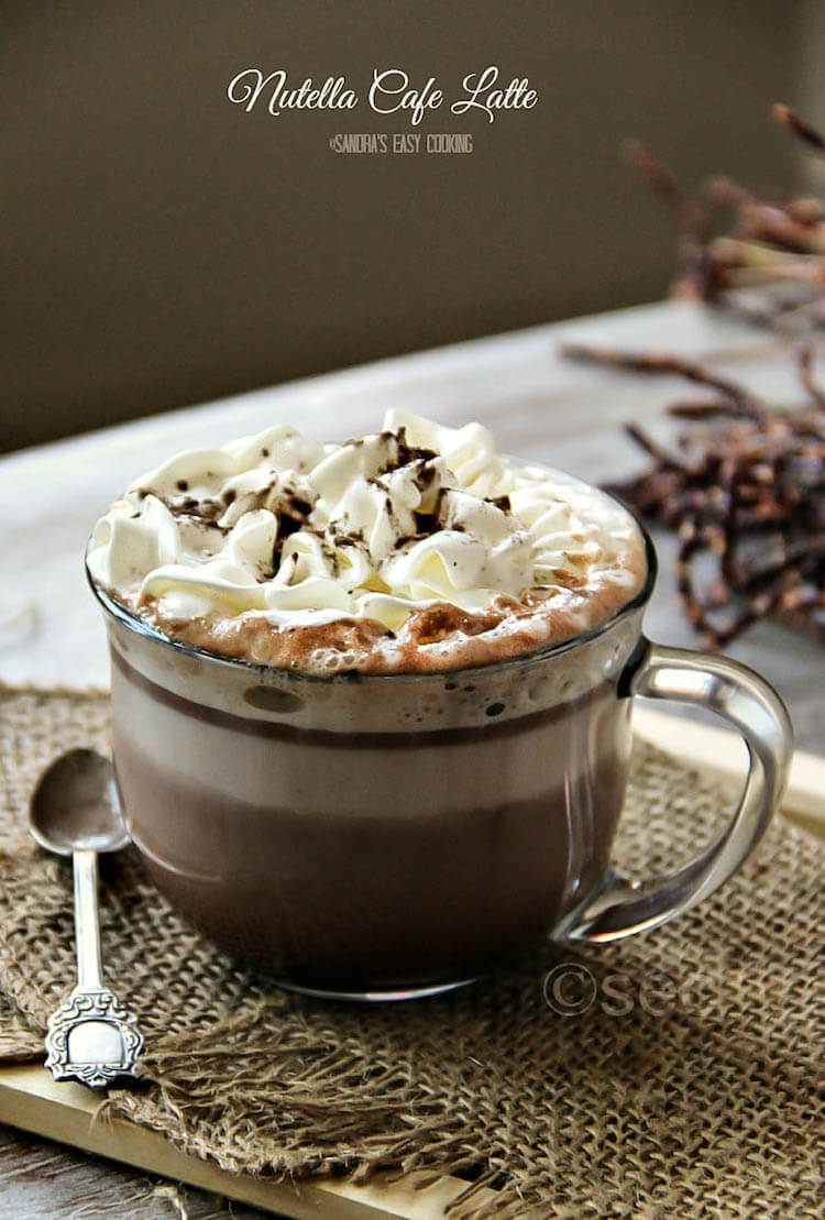recetas de café, café con Nutella