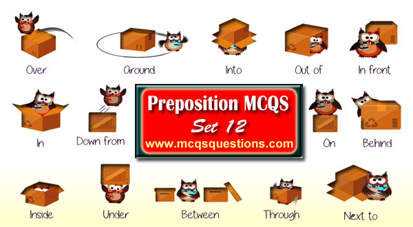 Preposition MCQ with Answers Set 12