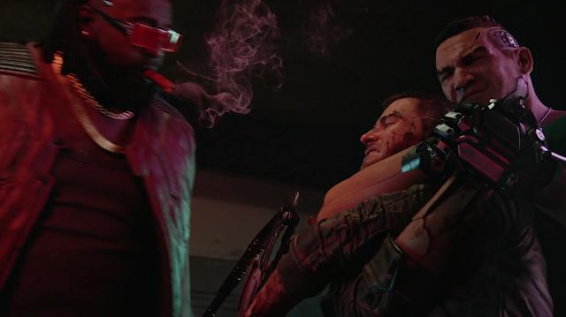 Microsoft Xbox E3 2019 Cyberpunk 2077 Dex smoking a blunt black man