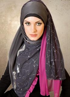 Cara memakai jilbab modern