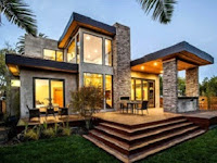Desain teras minimalis tampak mewah