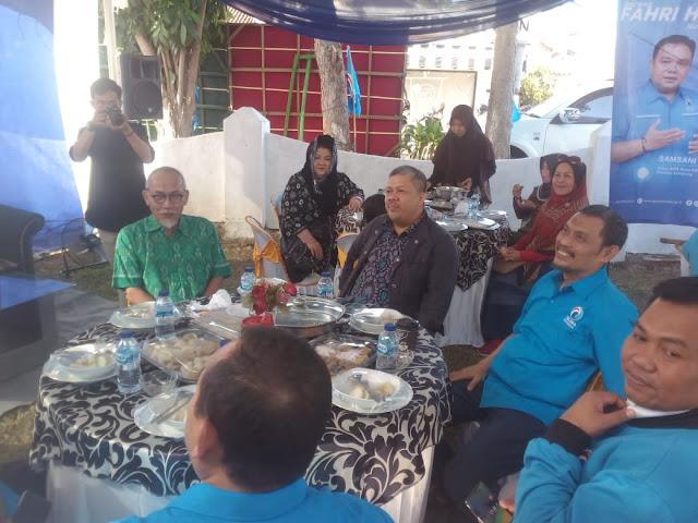 Fahri Hamzah (Wakil Ketua Partai Gelora) Menghadiri Acara Ngopi Dan Sarapan Bareng di Kantor DPW Gelora Lampung - media online lampung