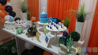Decoração de festa infantil Procurando Nemo