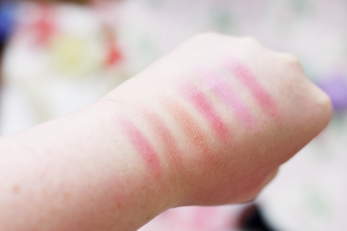 An image of the Too Faced Love Flush Blush Wardrobe Swatches