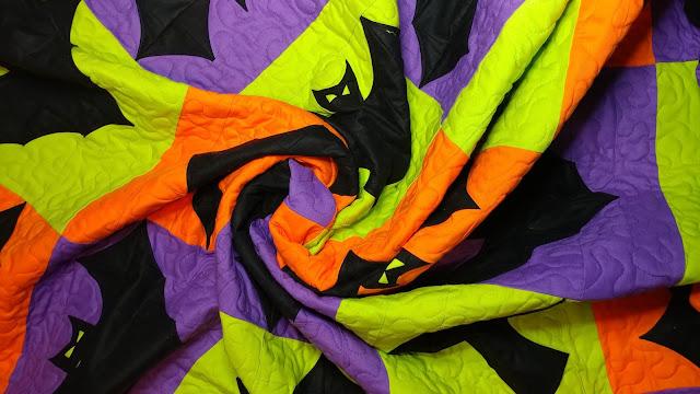 A bat quilt swirl