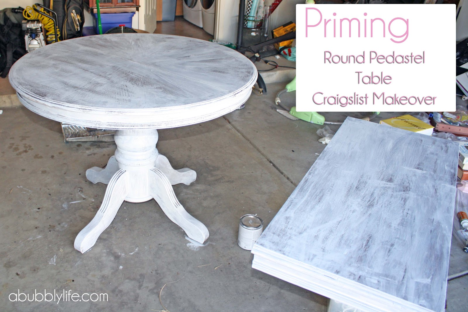A Bubbly LifeHow to Paint a Dining Room Table & Chairs! Makeover ...