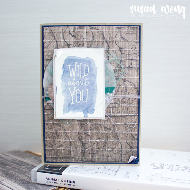 Animal Outing stamp set + Wood Textures by Stampin' Up! - Susan Wong for Fancy Friday