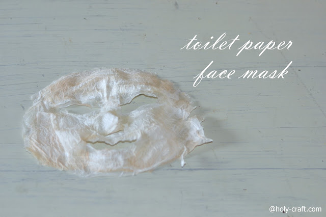 toilet paper face mask