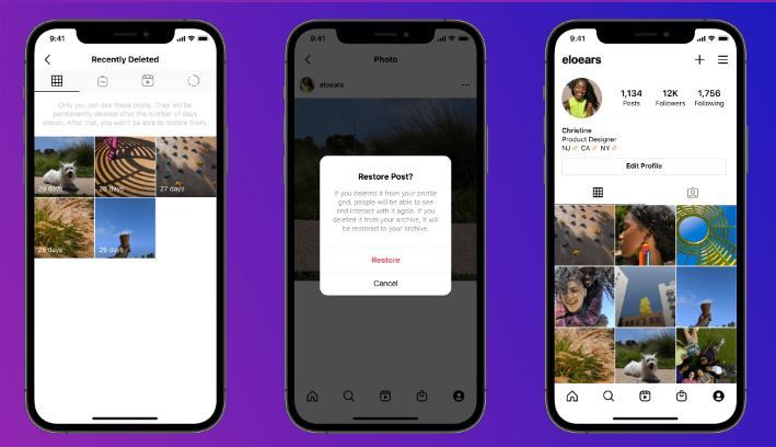 Instagram 'Recently Deleted' Feature