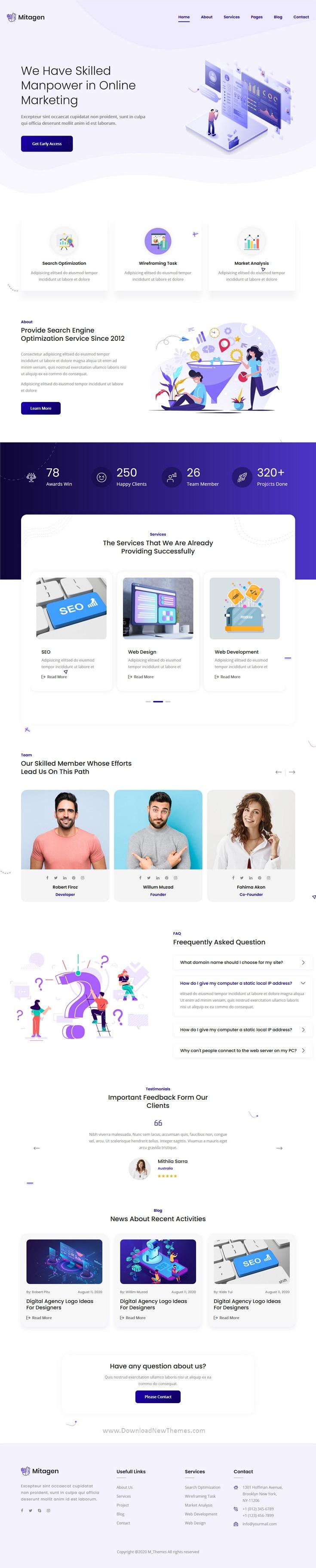 SEO / Marketing Agency HTML Template