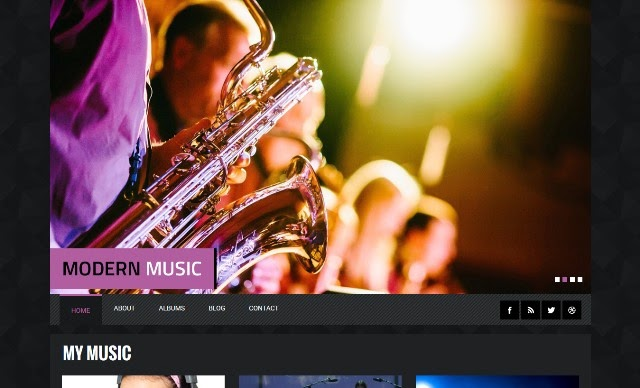 Modern Music - Entertainment Bootstrap Responsive Template