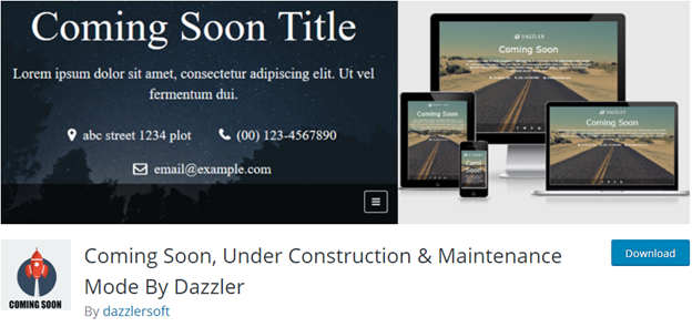 Coming Soon, Under Construction & Maintenance Mode