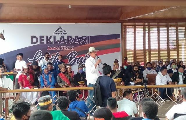 Deklarasi Rumah Kita, Luthfi Andi Mutty : Luwu Utara Butuh Pemimpin Baru