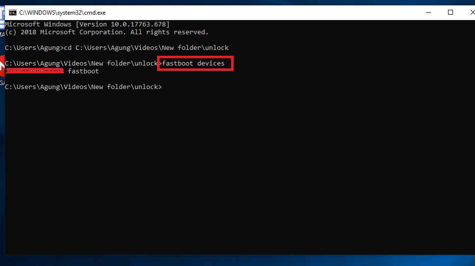 Deteksi Fastboot Device
