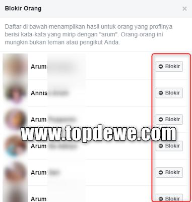 Cara blokir account facebook teman tanpa diketahui